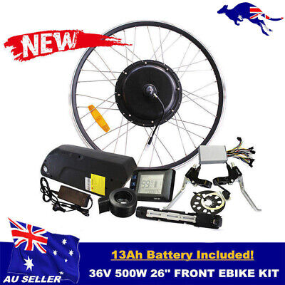 """Electric Bike Conversion EBike Kit 36V 500W 26"""" Front Wheel Motor with Battery"""