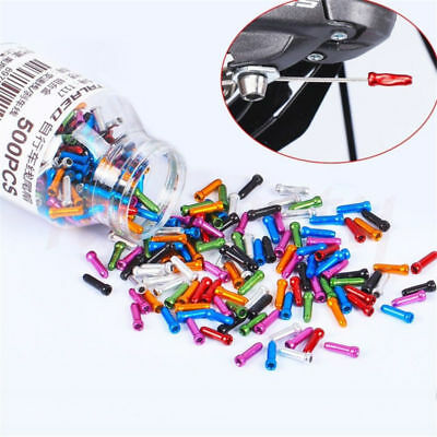 30X Multi-Color Bike Bicycle Brake Shifter Inner Cable Tips Wire End Cap Crimps