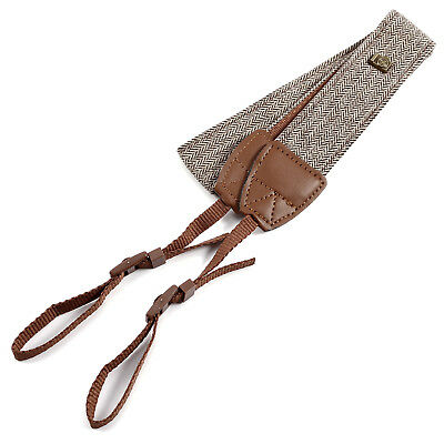 Camera Shoulder Neck Vintage Strap Belt for Sony Nikon Canon Olympus DSLR Brown