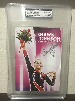 Shawn Johnson Olympic Medalist Auto Signed Signature Photograph Psa Authentic