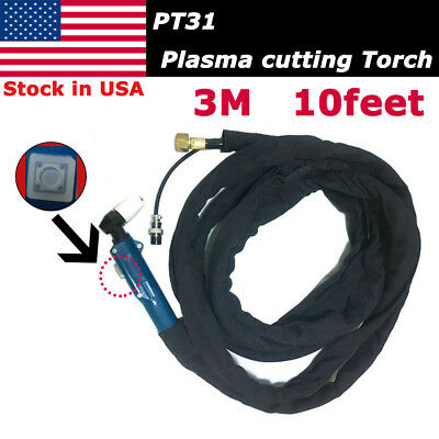 PT-31 Plasma Cutter Cutting Torch 10Feet & 3M Cable Body Complete Set CUT40/50