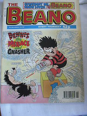 1997 Issue Of The Beano # 2843 Gnasher & Dennis The Menace & Usual Gang Vgc