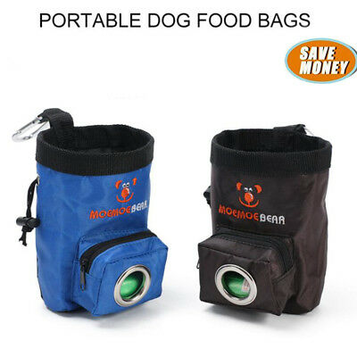 Portable Dog Training Treat Bags Pet Train Pouch Waist Bag Food Treat +Poop Bag