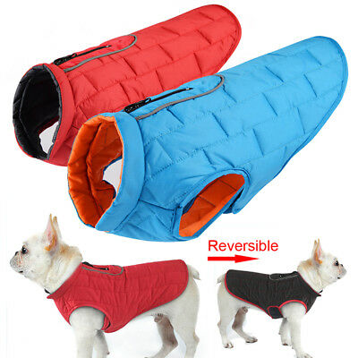 Pet Dog Clothes Waterproof Winter Dog Coat Jacket Reversible Cloth S/M/L/XL/XXL