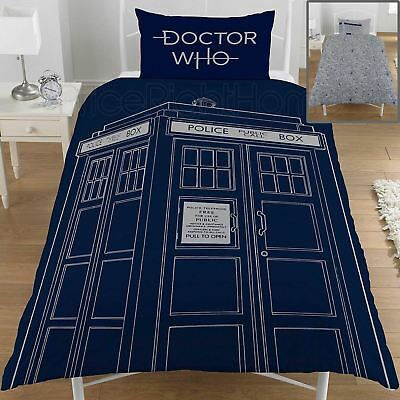 Doctor Who Classic Tardis Uk Single / Us Twin Unfilled Duvet Cover Set New