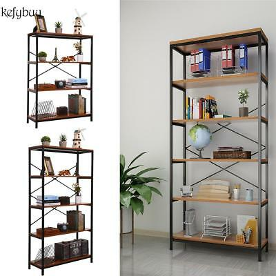 4 Layer Bookcase Bookshelf Leaning Wall Shelf Ladder Storage Display Furniture
