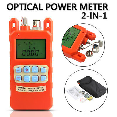 AUA-70AC Optical Power Meter Visual Fault Locator Fiber Optic Tester Kit 1-5KM