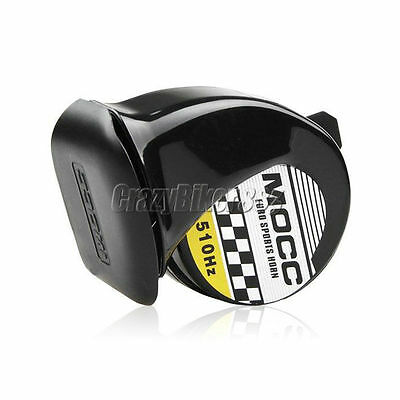 Black 510Hz Motorcycle Horn For Harley Dyna Sportster Softail XL 1200 883