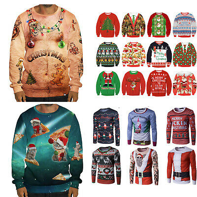 Adult Womens Mens Ugly Sweater Jumper Sweatshirt Pullover Hoody Unisex