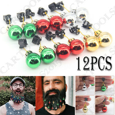 Beardaments-Beard Ornaments-Beard Baubles-(Pack of 12) with MINI-CLIPS.Xmas Gift