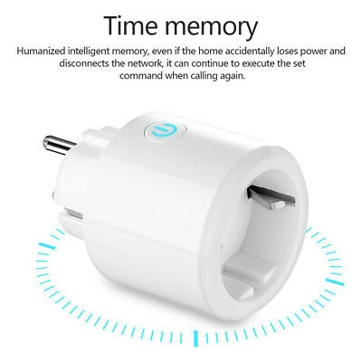 1Pcs WiFi Wireless Smart Power Socket Remote Control Timer Switch Outlet EU Plug