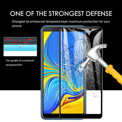 For Samsung Galaxy A7 A9 2018/J4 J6 Plus Screen Protector 9H Tempered Glass Film