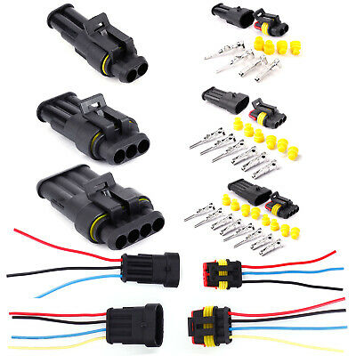 2 3 4 Pin Car Waterproof Electrical Wire Cable Automotive Connector Way Plug