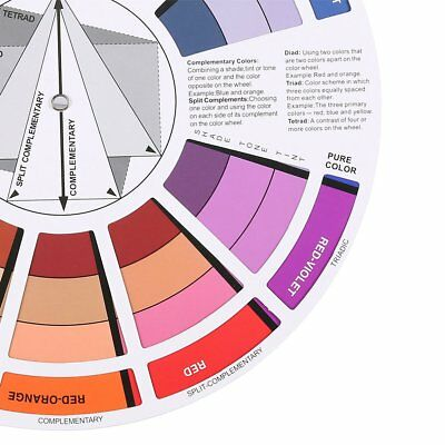 Professional Artists Color Wheel Mixing Guide 23.5cm Diameter Nail Color Wheel