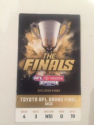 2018 AFL Grand Final Ticket Stub
