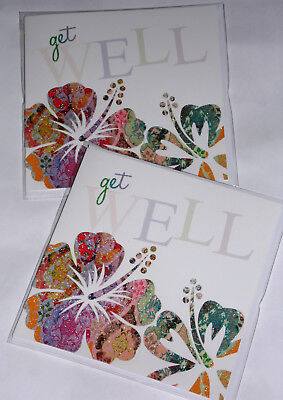 GET WELL CARDS JUST 25p x 12  'TWICE AS NICE' WRAPPED, FOILED, (CL59