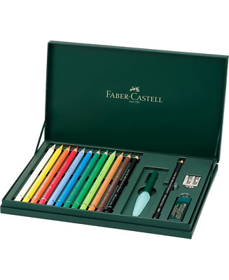Faber-Castell Set Matite Colorate A. Durer Magnus Pezzi 12 + Accessori