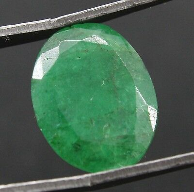 7.05Ct Natural Oval Shape Vivid Green Emerald Panna Gemstone Ggl Certified