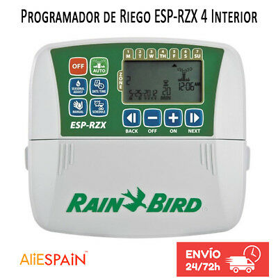 Rain Bird ESP RZX Series Sprinkler Timers. 4 Zone Controller for Residential Use