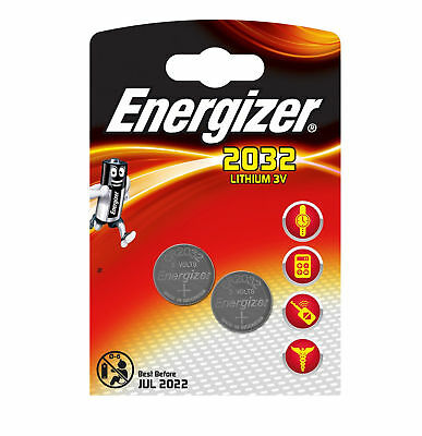 2x ENERGIZER~3v~LITHIUM~BUTTON CELL~CR2032~BATTERY~2032, DL2032, ,~EXP 2022/24