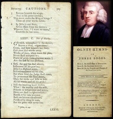 VERY RARE!! 1787 HYMN 'leaf' by JOHN NEWTON [To Frame] Author of 'AMAZING GRACE'