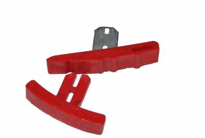 New Lambretta Red Quick Slip Upper and Bottom Chain Guide Set GP S3 GEc