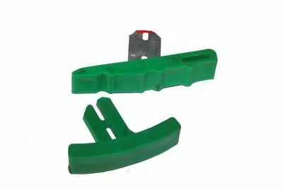 New Lambretta Green Quick Slip Upper and Bottom Chain Guide Set GP S3 GEc