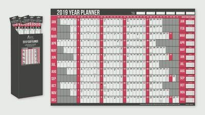 2019 Year Wall Planner Including Pen and Stickers Office or Home