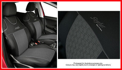 "2 ECO LEATHER FRONT SEAT COVERS for VW VOLKSWAGEN CADDY  /""Vest shape/"""