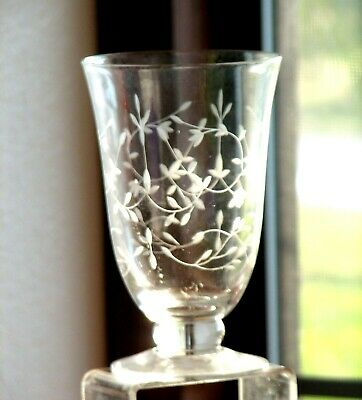 Lenox HEATHER Sparkling Clear Floral Cut 15 Oz. Footed Tumbler(s)