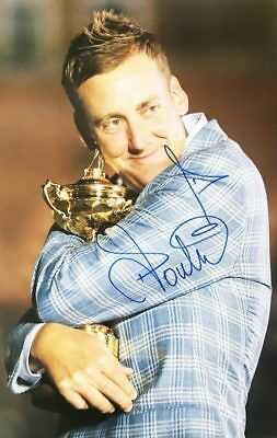 Signed Ian Poulter Poster Photo, Authentic Golf Autograph + *Certificate*