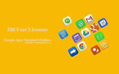 Domain name with 200 users for Google apps Standard Edition (G Suite Edition)