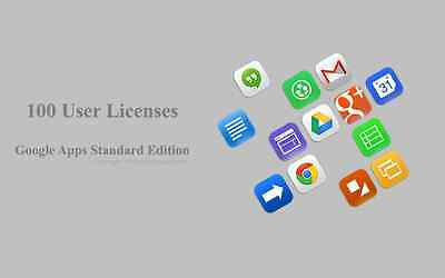 Domain name with 100 users for Google apps Standard Edition (G Suite Edition)