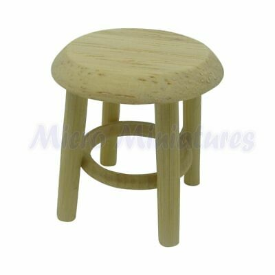 Dolls House Wooden Stool 1/12th Scale (00472)
