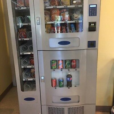 Vending Machine Seaga COMBO SODA / SNACK candy pop Office Deli Food truck