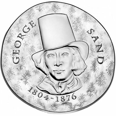 2018 France € 10 Euro Silver Proof Coin Women of France George Sand Chopin
