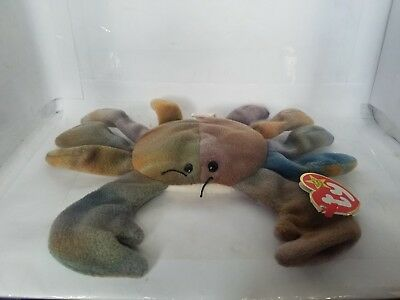 TY BEANIE BABY Beanie Babies CLAUDE THE CRAB PVC Pellet Filled