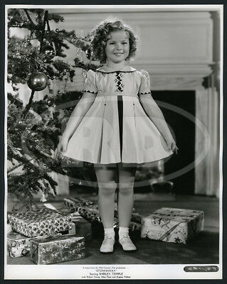 1936 Original 20th-Fox Xmas Fashion Photo - Shirley Temple Cinderella Stowaway