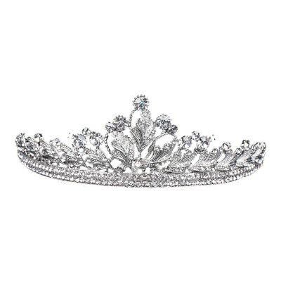 Rhinestone Crown Women Princess Bride Headband Tiara Wedding Headwear Soft