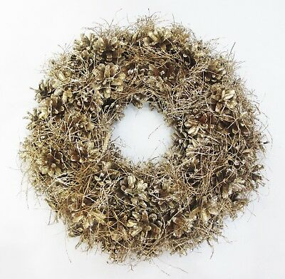 Luxury Quality Christmas Door Wreath Large 32cm Champagne Gold 9813