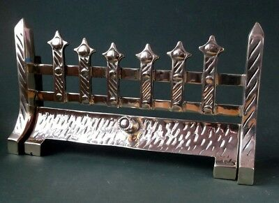 """Vintage Antique Style Heavy 16"""" Solid Brass Fire Grate Fireplace  Front Bars"""