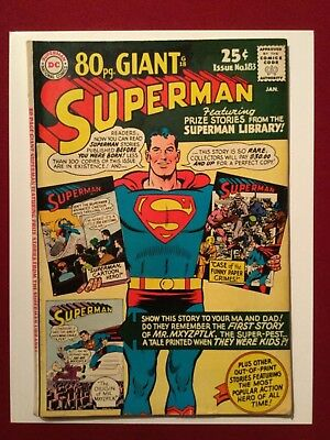 Superman #183 (DC 1966)- Silver Age!  80-Page Giant!