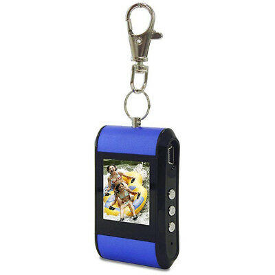 "2 x TAO 1.5"" Digital Photo Frame Keychain 80019 Blue"