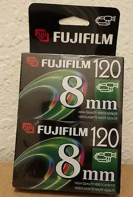 Fujifilm 8mm Videocassette P6-120 High Quality 2 Pack NEW Sealed