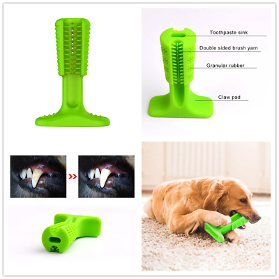 3 Size Pet Dog Cat Toothbrush Toy Teeth Brushing Cleaning Chew Stick Oral Care