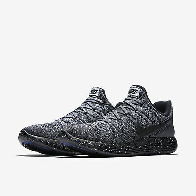 2ae1c4d5d2993f Nike Lunarepic Low Flyknit 2 Running Shoes Black White Oreo Size 10 863780- 041