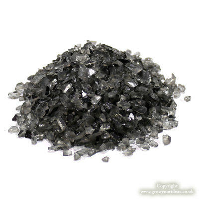 Yellow Crushed Glass Chippings for crafts or pot toppings 100g