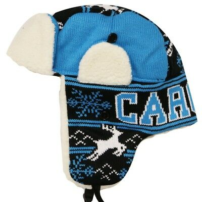 1b697893a29a7 Carolina Panthers Winter Knit Trapper Hat New With Tags free shipping great  gift