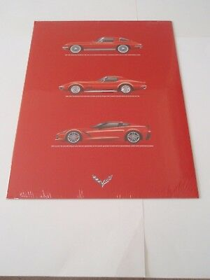 2014 Corvette Stingray Generations Poster C7 Owners Exclusive Red- Still Sealed