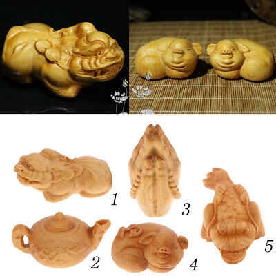 Natural Wooden Carved Figurines Collections for Wedding Birthday Xmas Gifts